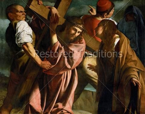 Christ Meets Mother On Way To Calvary Caravaggio With Images