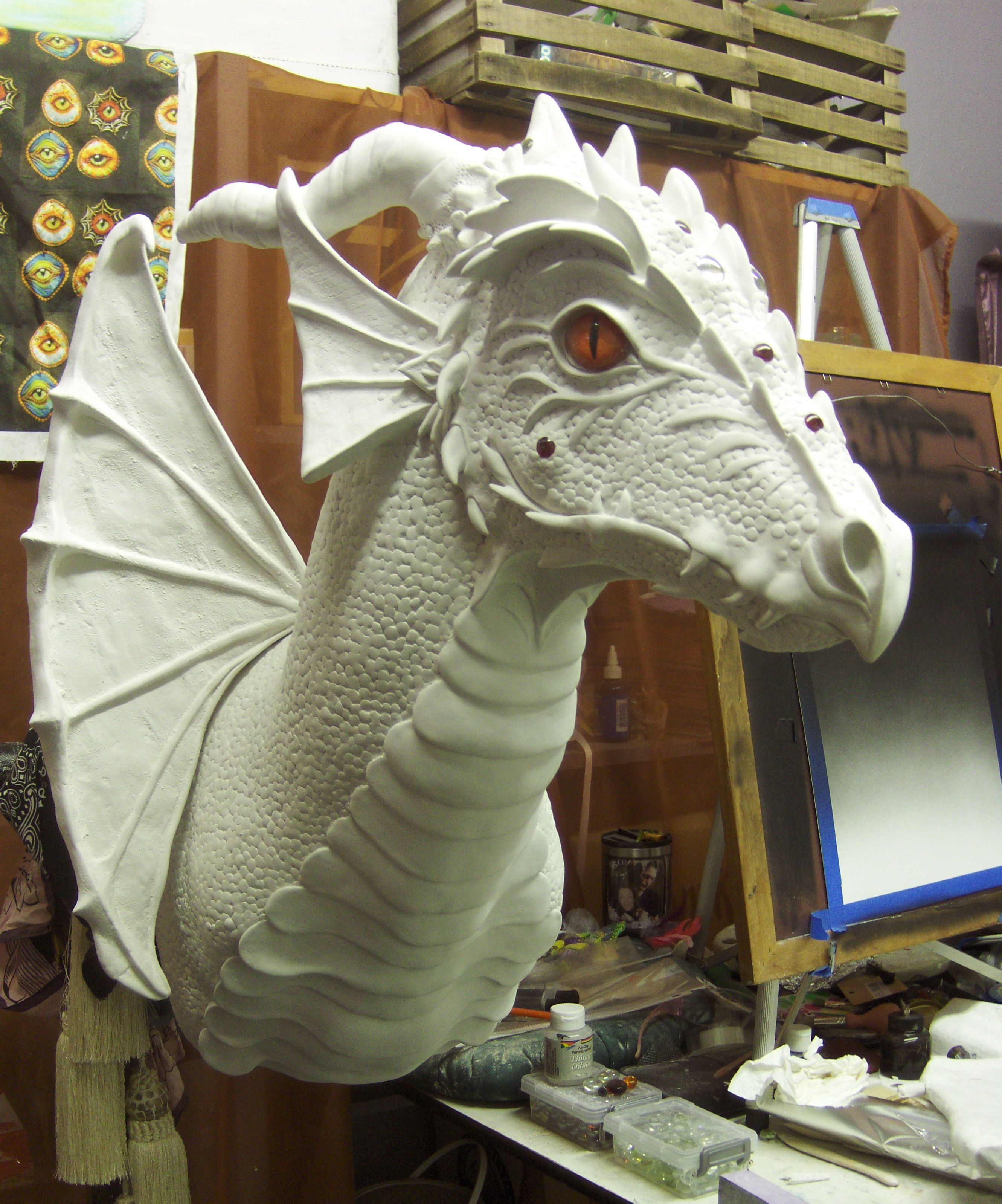 This is a Dragon head I'm making for Lori. I only have one