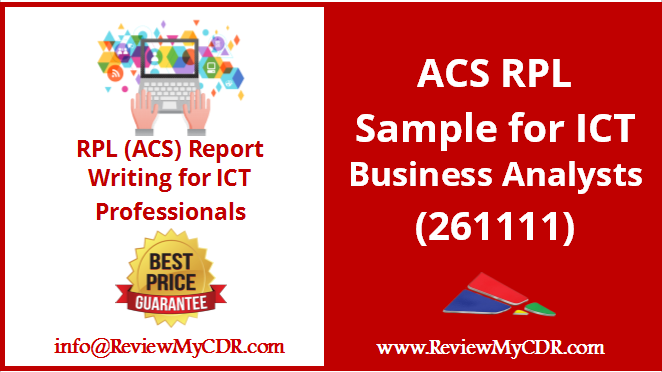 Acs Rpl Sample For Ict Business Analysts  Ict Business