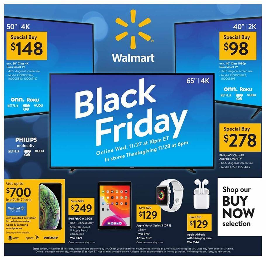 Walmart Black Friday Ad Scan Deals And Sales 2019 The Walmart 2019 Black Friday Ad Is Here Be Sure To Subscr Walmart Black Friday Ad Black Friday Ads Walmart