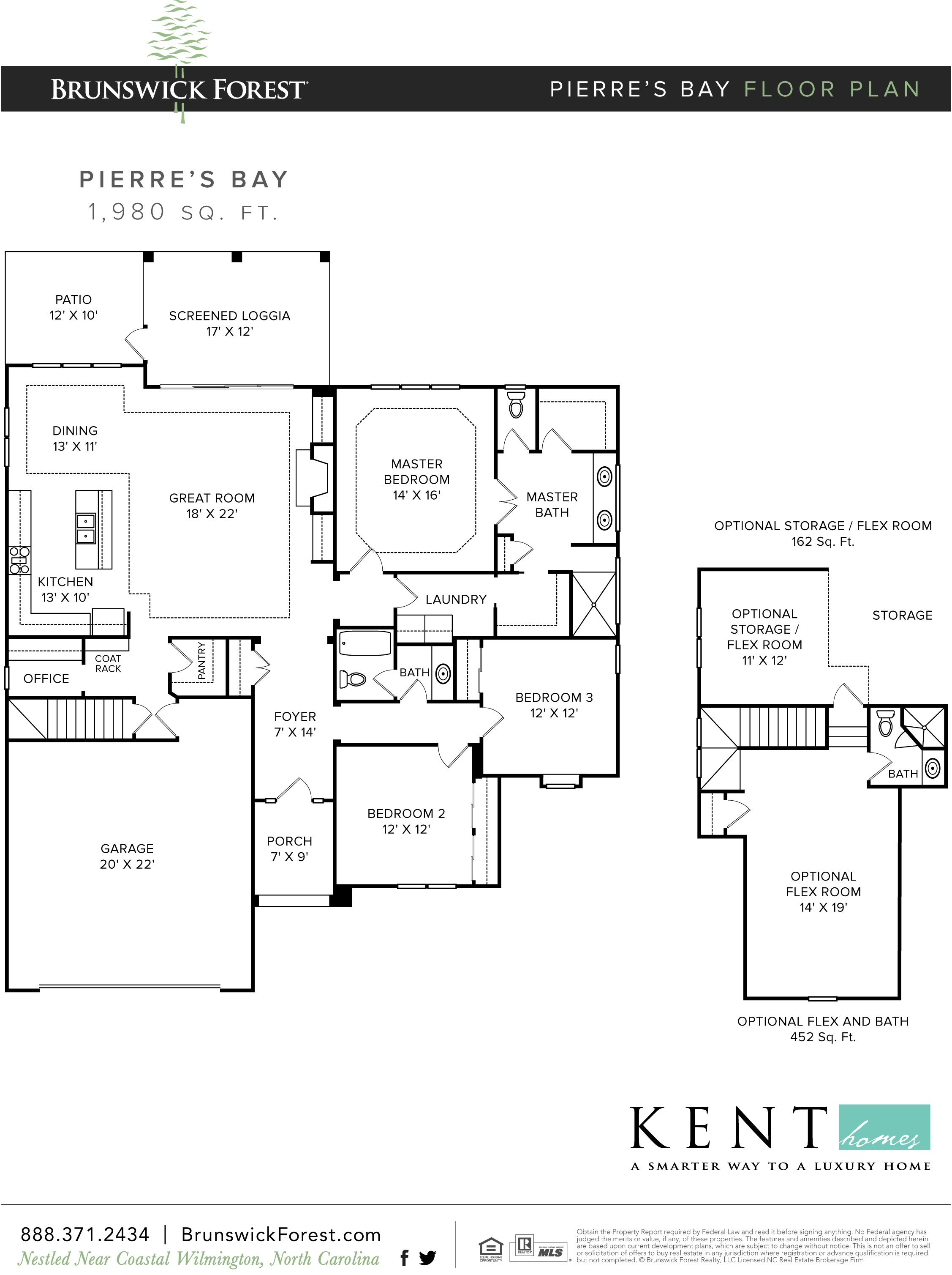 Pierre S Bay Floor Plan At Park Landing House Plans Floor Plans How To Plan