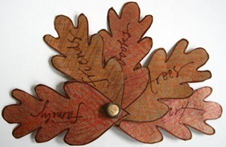 susangaylord.com: Thanksgiving Leaf Fan Book