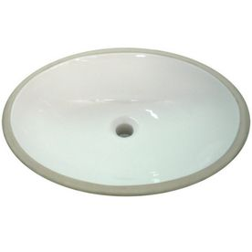 Aquasource White Undermount Oval Bathroom Sink With Overflow Lowes 43 To Use With Your Leftover Counter If That Is Done In Bath Bathroom Sink Sink