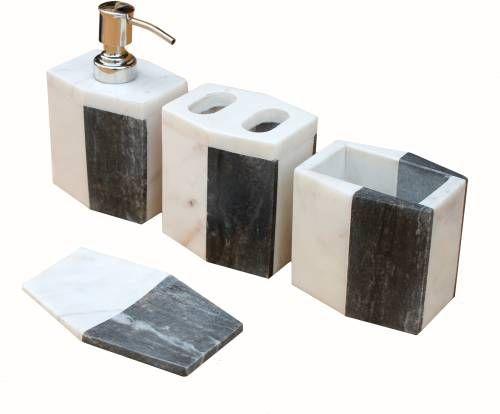 5 Piece Genuine Indian Natural Stone Bathroom Set Accessories Ideias