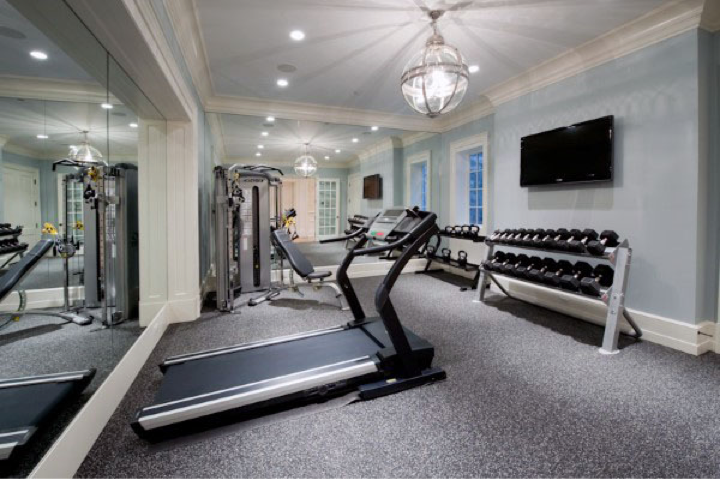 Pin By Pam Yantis On Workout Room Gym Room At Home Home Gym Flooring Home Gym Design