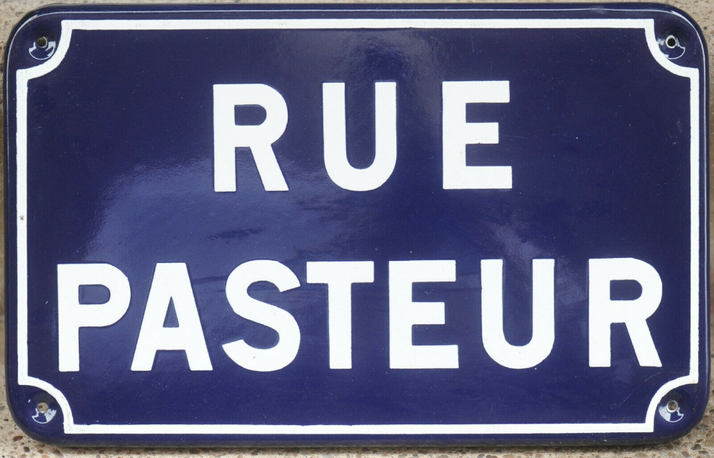 Old French Enamel Street Sign Plaque Road Name Plate Rue Pasteur Lorient 1970s Ebay French Enamel French House Number Street Signs