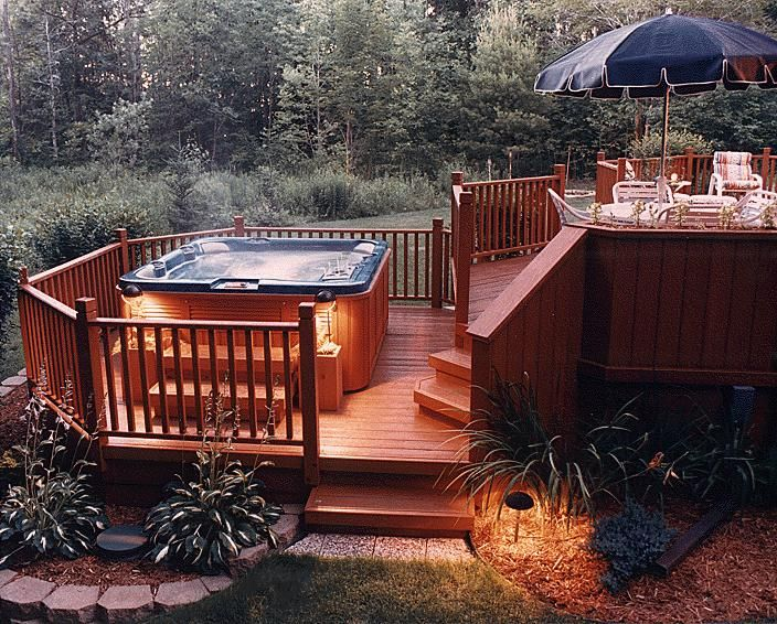 The Complete Guide About Multi Level Decks Design And Ideas Hot Tub Patio Deck Designs Backyard Hot Tub Deck