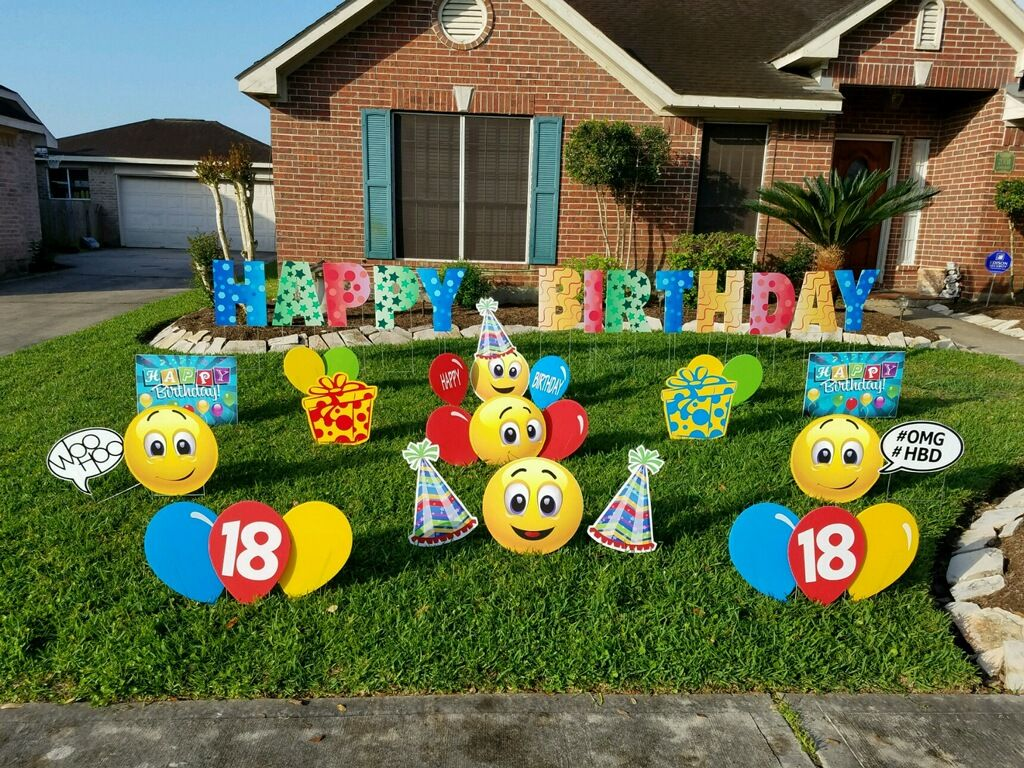 how awesome is this for an 18th birthday weatherproof birthday decorations with lawn letters