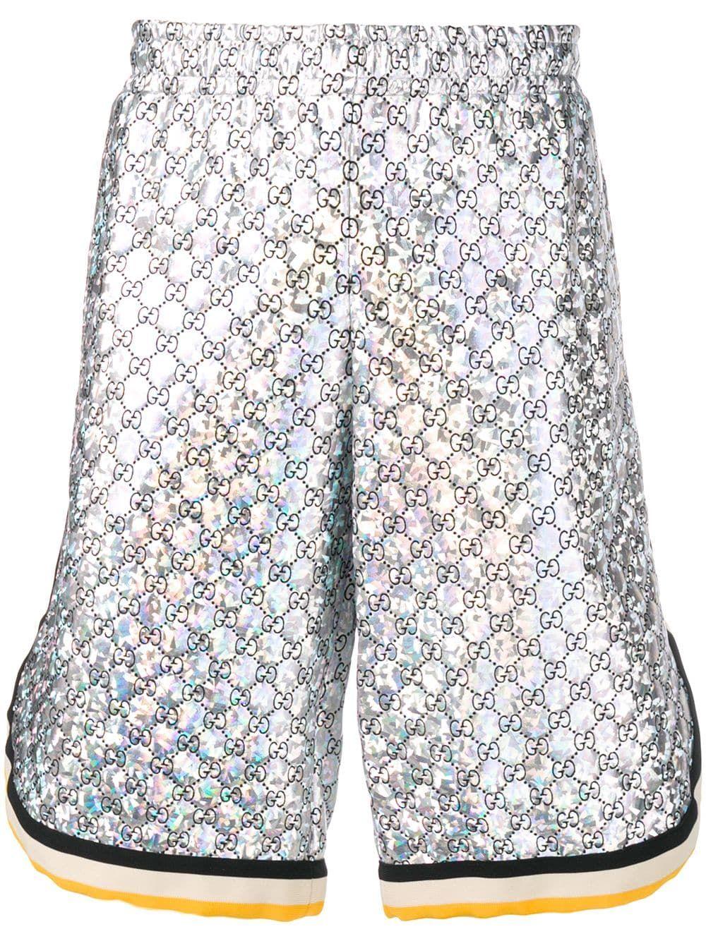 f9d70569 GUCCI GUCCI GG TRACK SHORTS - SILVER. #gucci #cloth | Gucci | Gucci ...