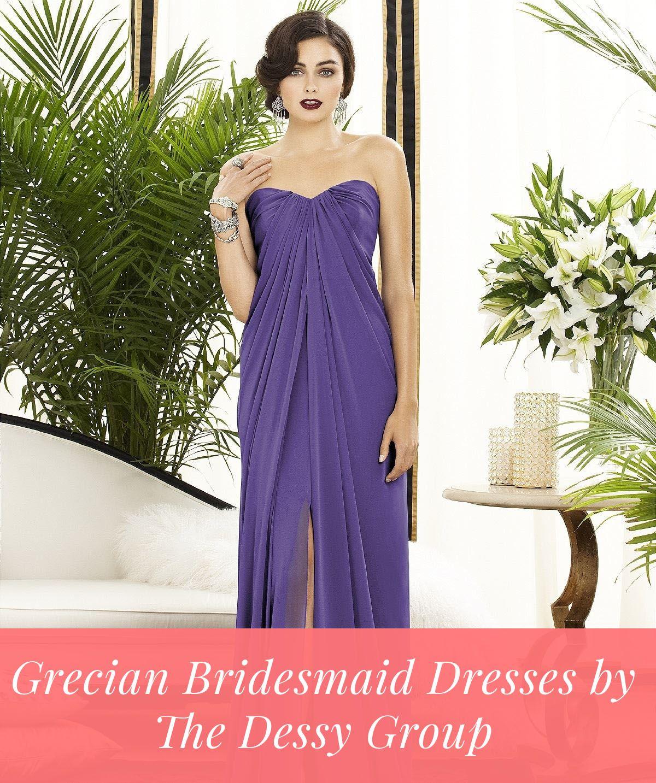 Grecian Bridesmaid Dresses by Dessy | Bridal parties, Wedding shoppe ...