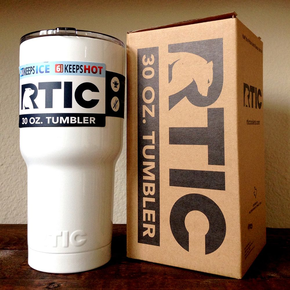 30 Oz Rtic Tumbler Custom Powder Coated Gloss White Unique Yet Creative Make Sure To Stand Out Of The Crowd With Our Tumbler Custom Tumblers Rtic Tumblers