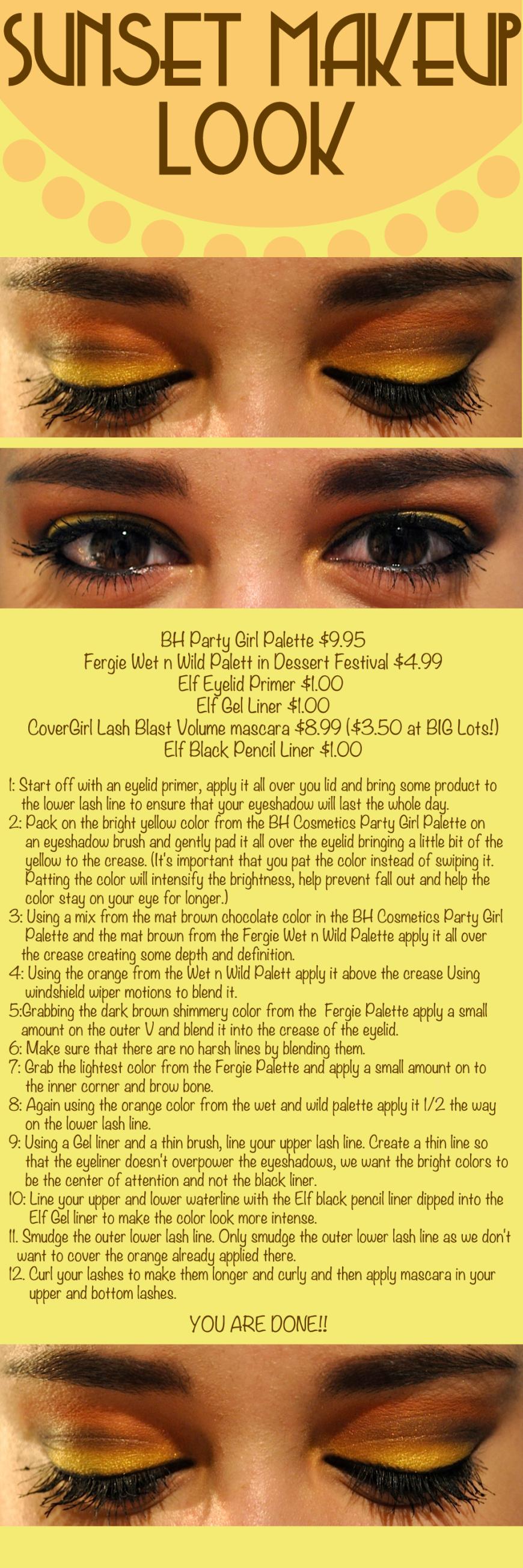 Sunset Makeup Look - DIY - Step by Step - BH - Wet N' Wild - Makeup Look