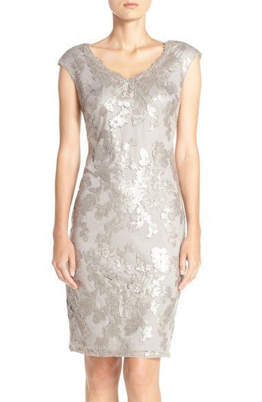 Sequin Lace Sheath Dress
