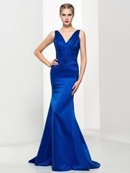 #EricDress - #EricDress Ericdress Elegant V-Neck Appliques Mermaid Evening Dress - AdoreWe.com