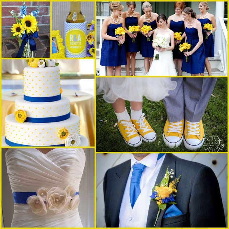 Canary Yellow Blue Wedding Ideas