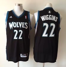 premium selection e7afd f0d7d New Minnesota Timberwolves #22 Andrew Wiggins Black ...