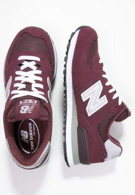 New Balance M574 - Sneaker low - burgundy/dunkelrot - Zalando.de ...