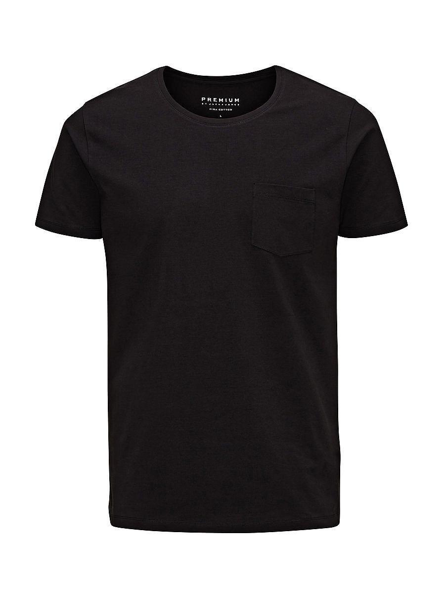 PREMIUM by JACK & JONES - T-Shirt von PREMIUM - Slim-Fit mit extra Länge - Rundhalsausschnitt - Brusttasche - Hohe Baumwollqualität - Das Modell trägt Größe L und ist 187 cm groß 95% Baumwolle, 5% Elasthan...