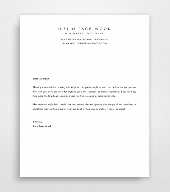 Printable stationary business letterhead stationary template printable stationary business letterhead by jpwdesignstudio friedricerecipe Images