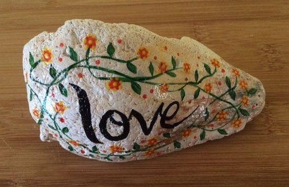 Painted sea shell - Love - seashell