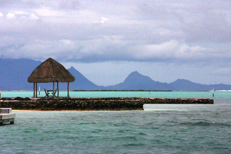 Bora Bora, Tahiti.  Photo taken from the lanai of my over-the-water bungalow.