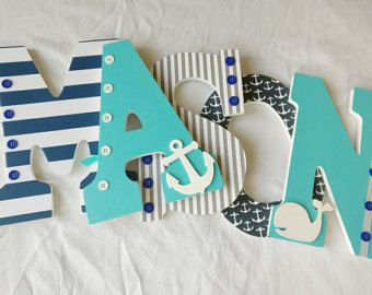 Nautical Nursery Letters Baby