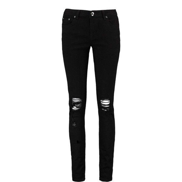 Black skinny jeans boohoo