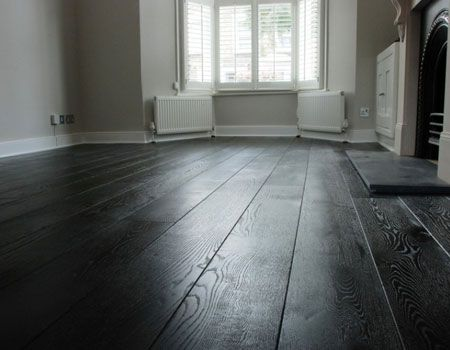 Perhaps A Black Grey Dark Wooden Floor N E U T R A