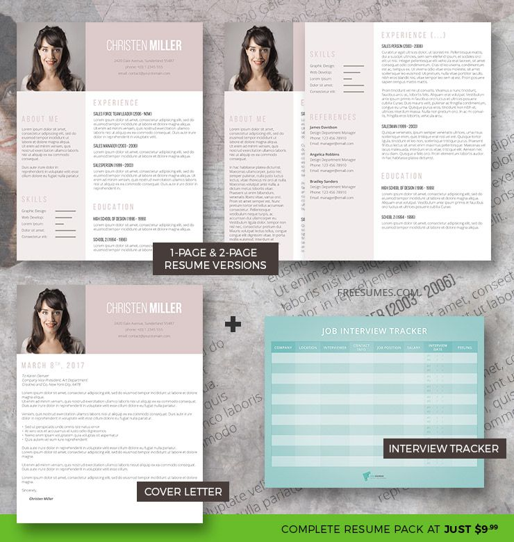 Vintage Rose Complete Resume Pack - how a resume looks