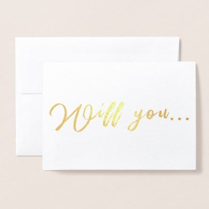 Will You be My Bridesmaid Maid of Honor Proposal Foil Card - foil ...