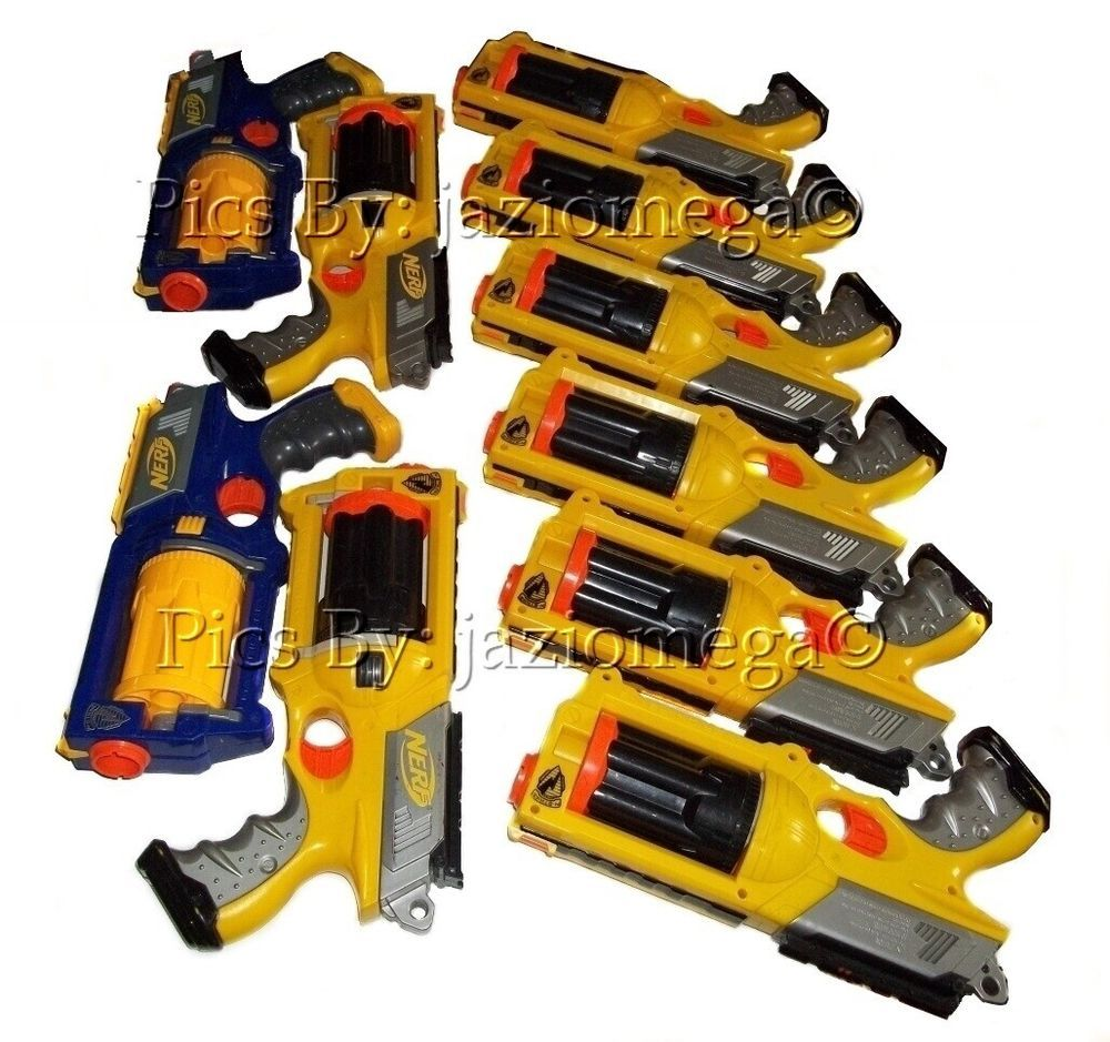 Maverick Rev-6 Nerf N-strike gun Party Pack lot of 10 Six Shooters Nerf Guns !‏