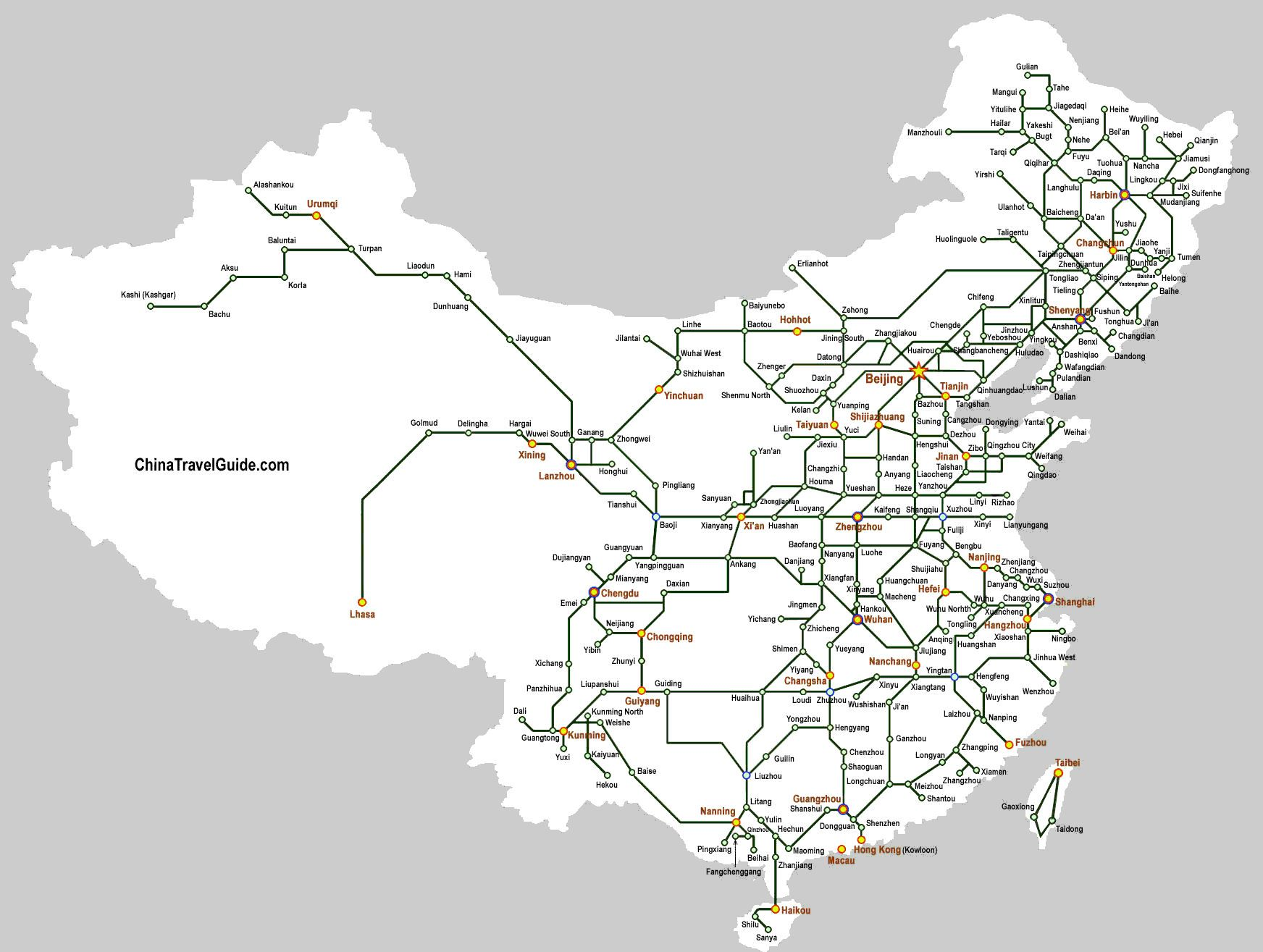 China Railroad Map china travel n teach Pinterest China travel