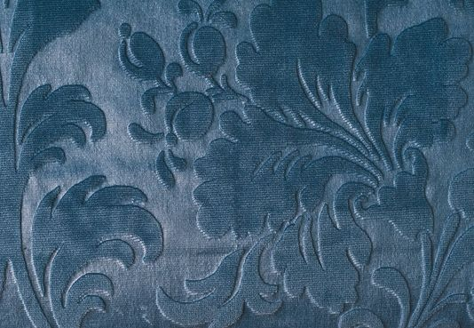 Jean Bart Velvet Damask Embossed Teal Velvet Damask Suitable For Contract Curtains And Upholstery