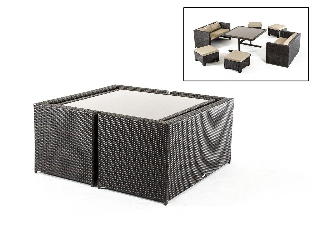 Renava cube outdoor dining set outdoor dining dining for Outdoor dining sets for small spaces