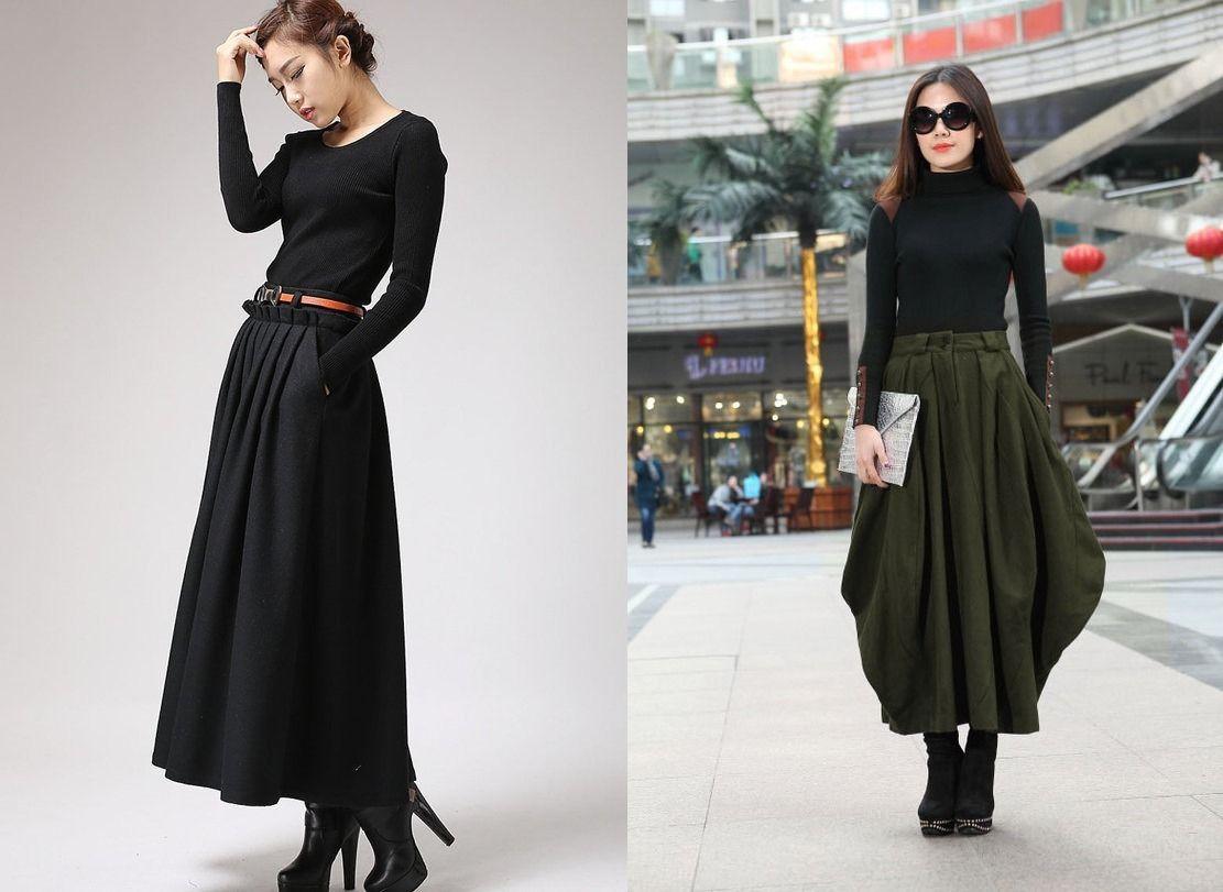Модные длинные юбки осень 2016