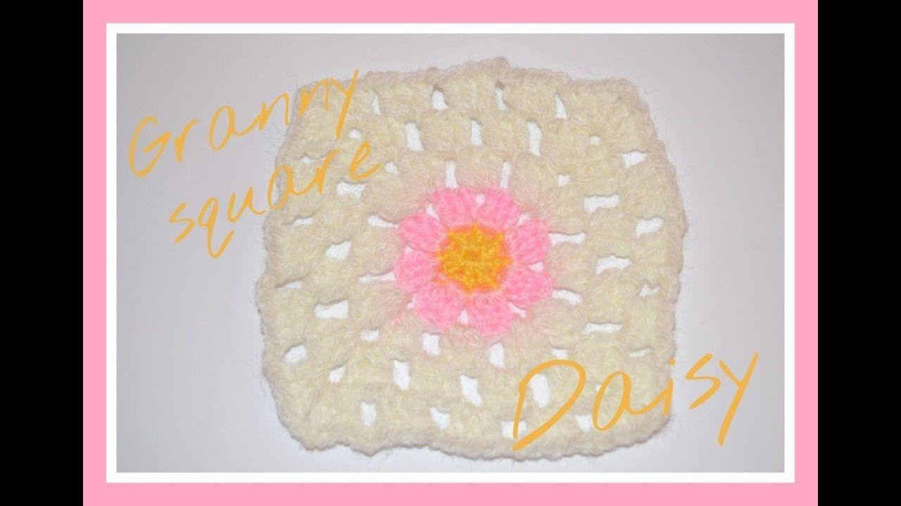 Granny square Daisy || Crochet o ganchillo. | aprendiendo puntos ...