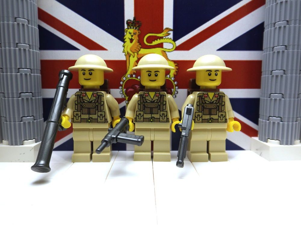 Details about 3x WWII LEGO British 8th Infantrymen with