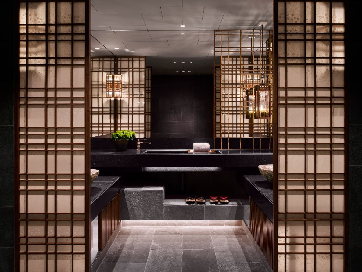 Spa Changing Room At The Four Seasons Kyoto By Hba Design With Images Spa Treatment Room Hotel Spa Spa Design