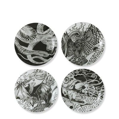 new halloween stuff starting to go up at williams sonoma halloween haunted halloween appetizer plates set of 4