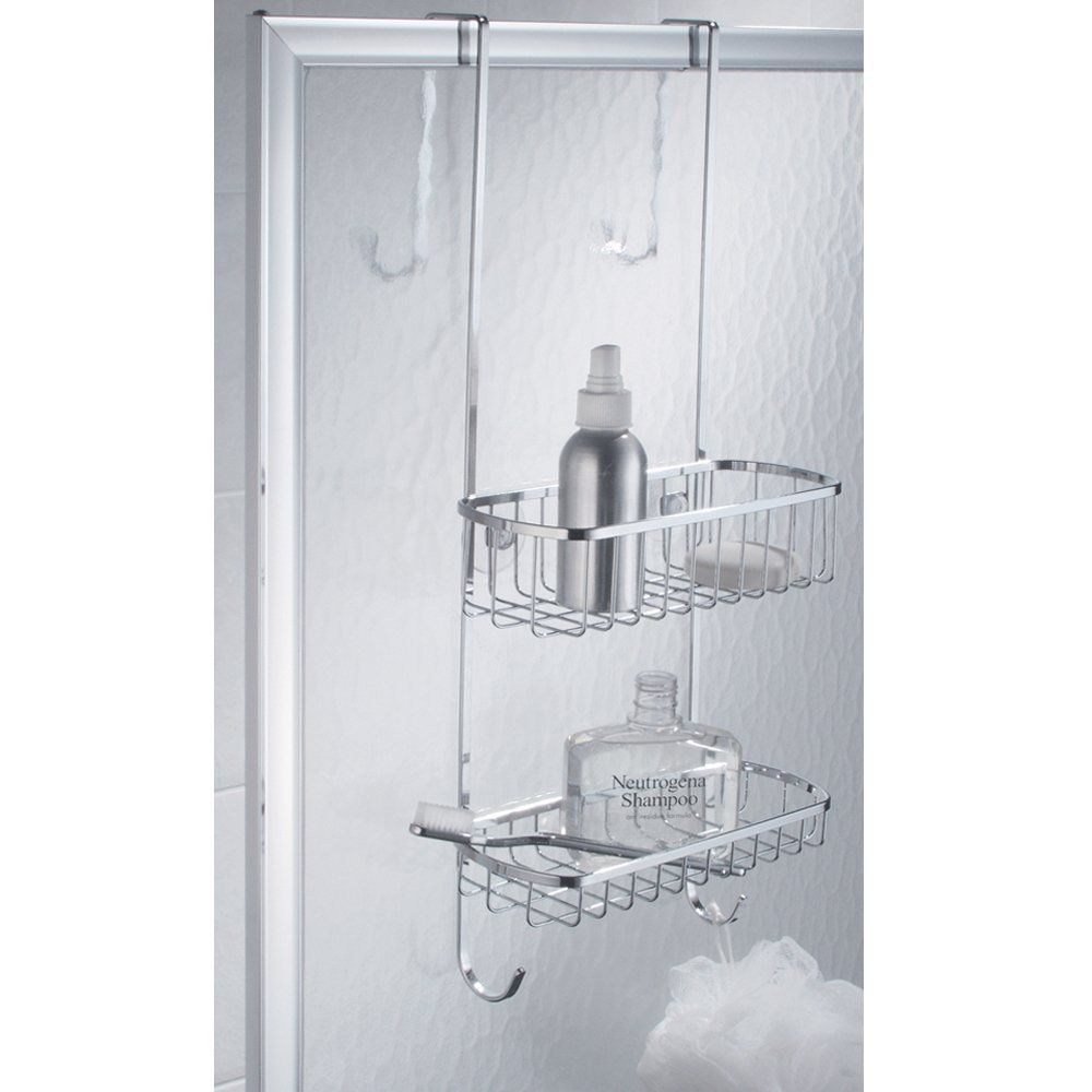 Interdesign Over The Shower Door Shower Caddy Polished Stainless