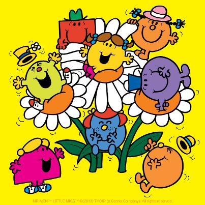 ミスターグランブル達と花の中にいる1枚です。