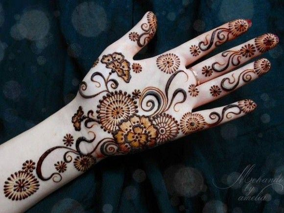 Mehndi Designs Patterns Ideas : Women girls new best hand feet mehndi designs chand raat eid ul