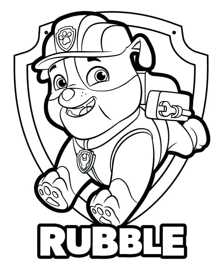 Rubble Paw Patrol Coloring Page Youngandtae Com Paw Patrol Coloring Paw Patrol Coloring Pages Paw Patrol Printables