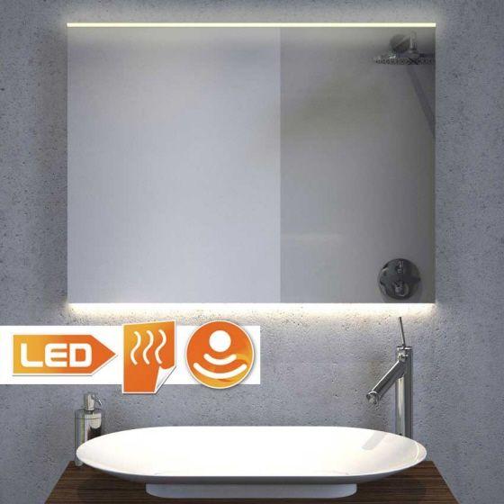 led badkamerspiegel met warmwitte design led verlichting