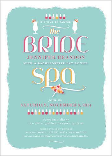 Stylish Spa Day Bachelorette Party Invitations Shutterfly Bachelorette Party Invitations Spa Bachelorette Parties Bridal Bachelorette Party