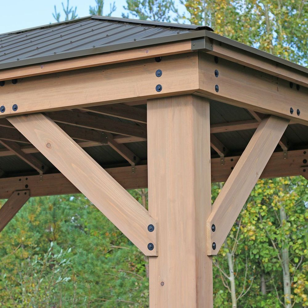 12 X 16 Cedar Gazebo With Aluminum Roof Diy Gazebo Gazebo Pergola With Roof