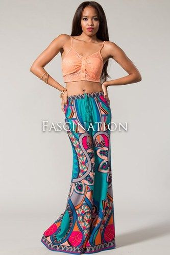 Scarf Print Palazzo Pants $45.00 Always Free Shipping