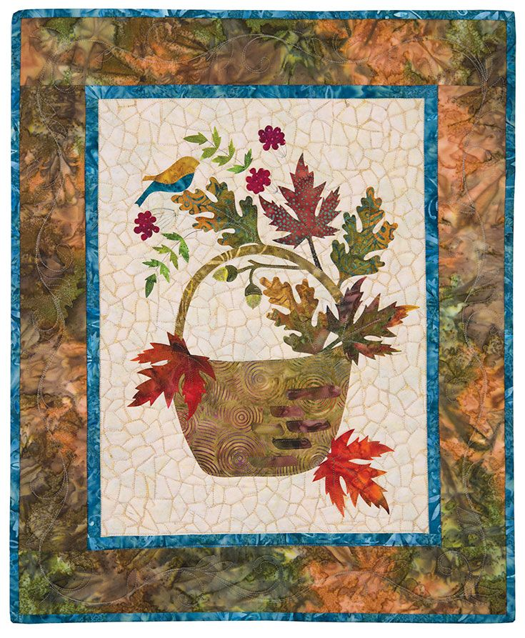 The September block from Seasonal Silhouettes by Edyta Sitar for ... : laundry basket quilts seasonal silhouettes - Adamdwight.com