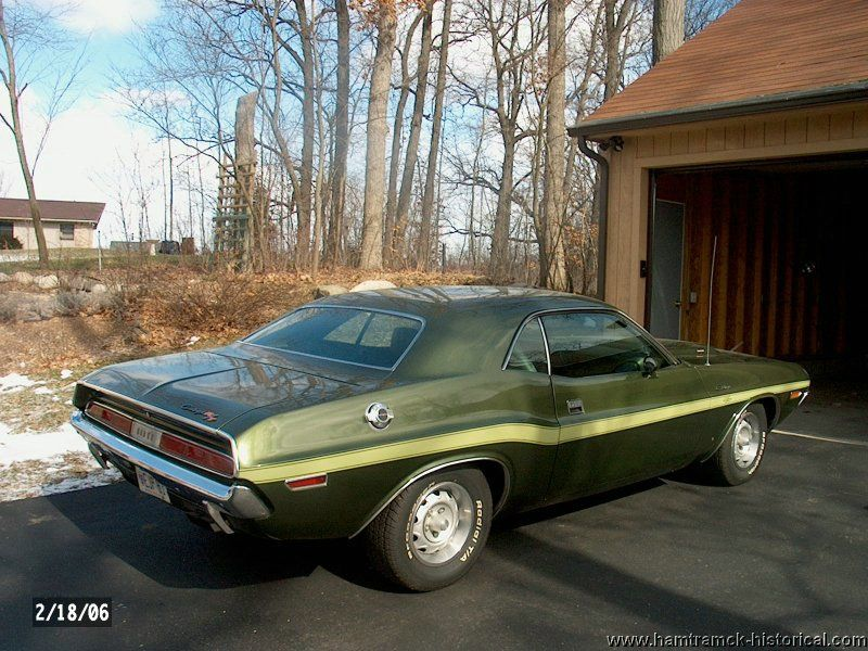 1970 Dodge Challenger Rt In F8 Dark Green With V6f Longitudinal
