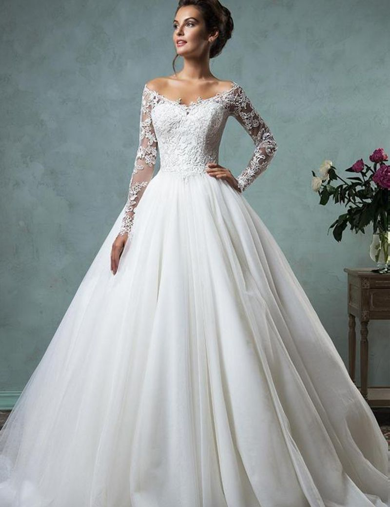 Xiangyihui Cheap Vintage Ball Gown Wedding Dresses Tulle Beaded ...